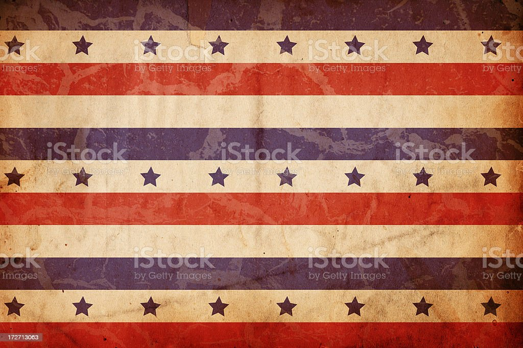 """Patriotic Paper XXXL """"Image of an old, grungy piece of XXXL paper with a red and blue starred pattern. Great background file/design element. See more quality images like this one in my portfolio.While you're here why not leave a rating for this file or for some of the other work in my portfolio"""" Abstract Stock Photo"""