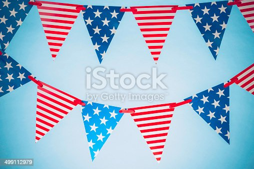 612818918 istock photo Patriotic Party Flags for July Fourth 499112979