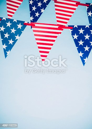 612818918 istock photo Patriotic Party Flags for July Fourth 499115225