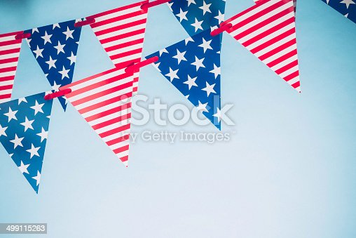 612818918 istock photo Patriotic Party Flags for July Fourth 499115263