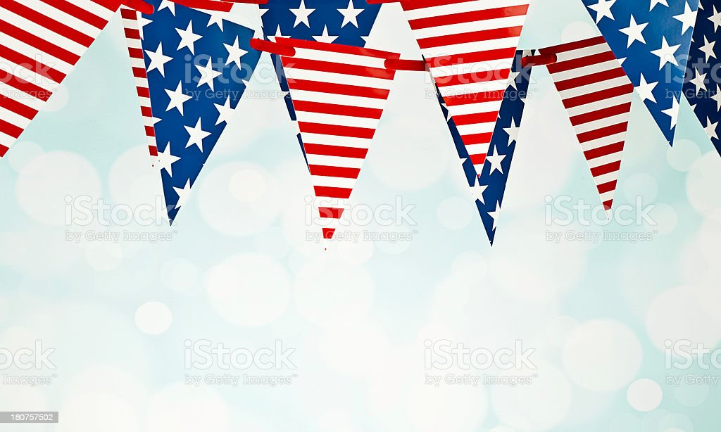 Patriotic Party Flags stock photo