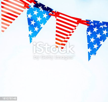 612818918 istock photo Patriotic Party Flags 181078146