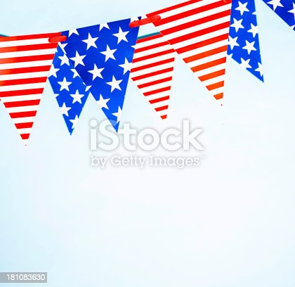 612818918 istock photo Patriotic Party Flags 181083630