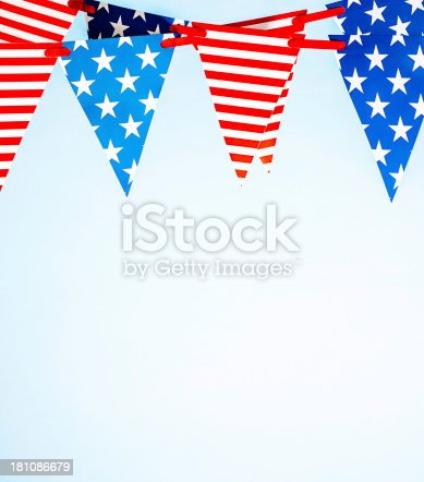612818918 istock photo Patriotic Party Flags 181086679