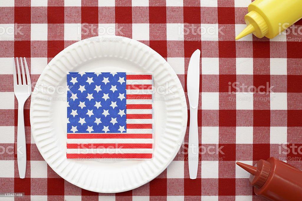 Patriotic Picnic Napkin royalty-free stock photo