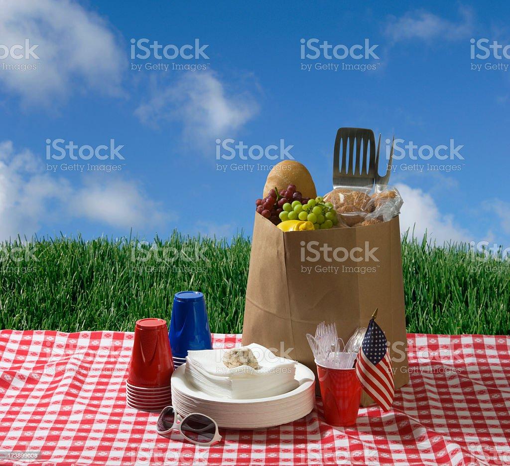 Patriotic Picnic stock photo