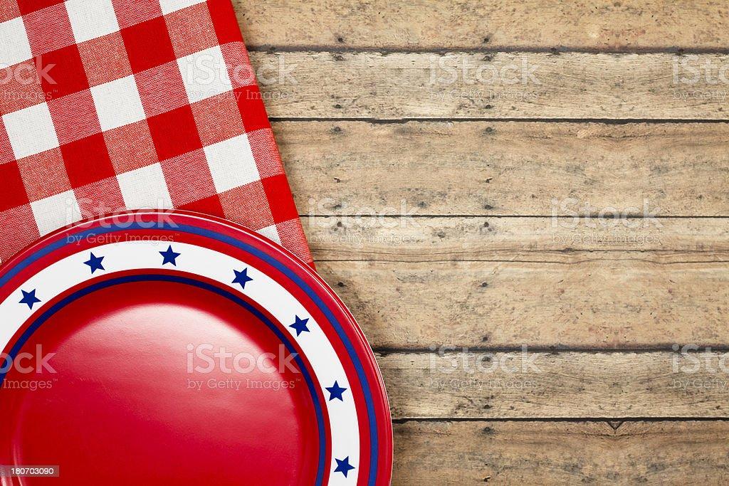 Patriotic Picnic Plate royalty-free stock photo