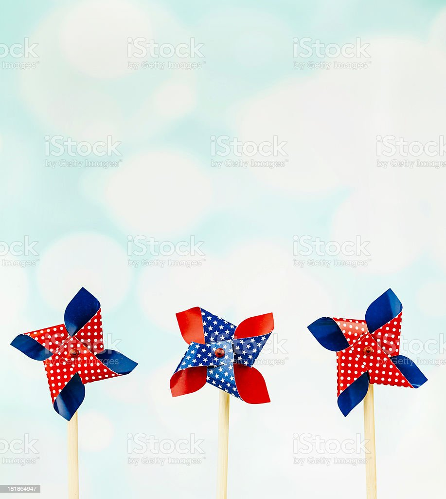Patriotic Pinwheels royalty-free stock photo