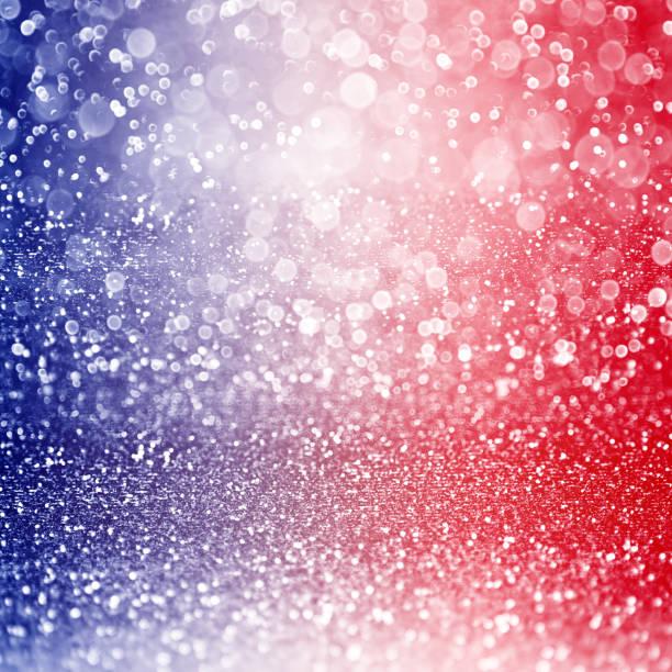 Patriotique fond rouge, blanc et bleu - Photo