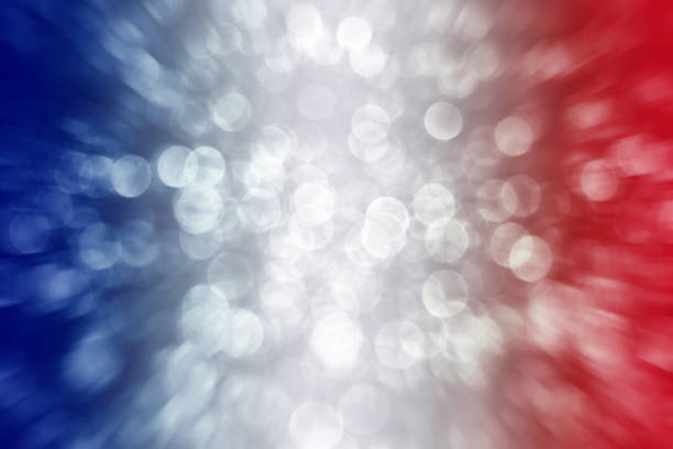 Patriotic Red White and Blue Exploding Background stock photo