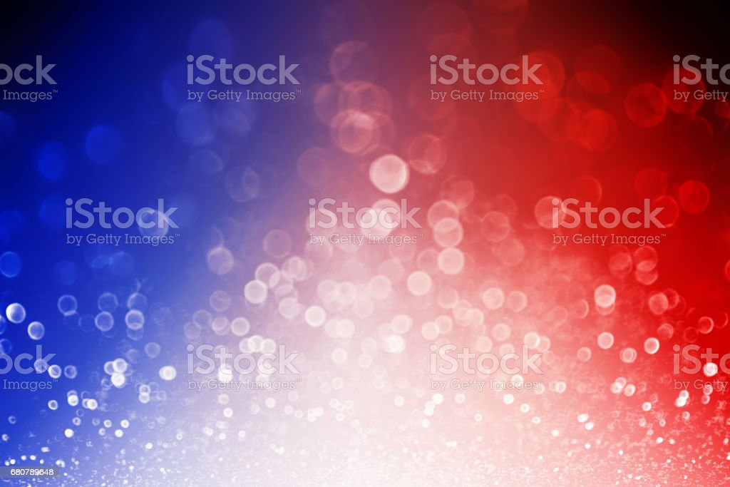 Patriotic Red White and Blue Explosion Background stock photo