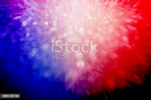 680789648 istock photo Patriotic Red White and Blue Fireworks Party Background 685238760