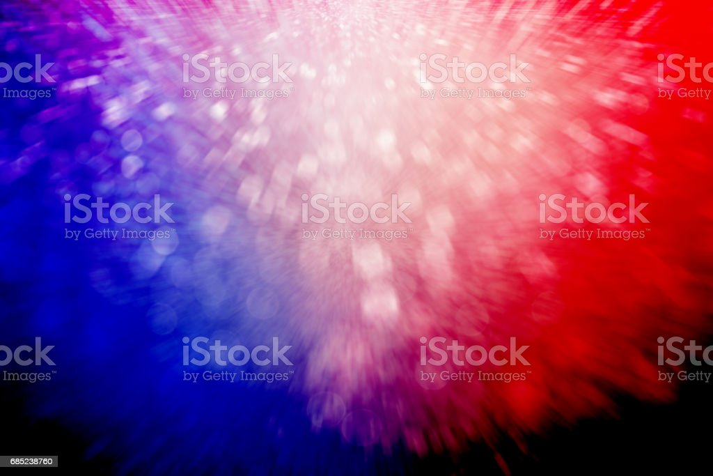 Patriotic Red White and Blue Fireworks Party Background stock photo