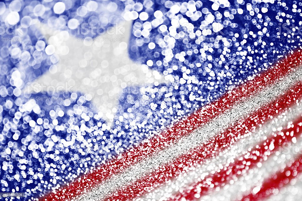 Patriotic red white and blue glitter sparkle royalty-free stock photo