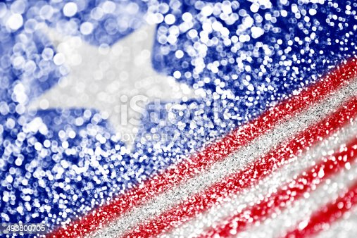 istock Patriotic red white and blue glitter sparkle 493800705