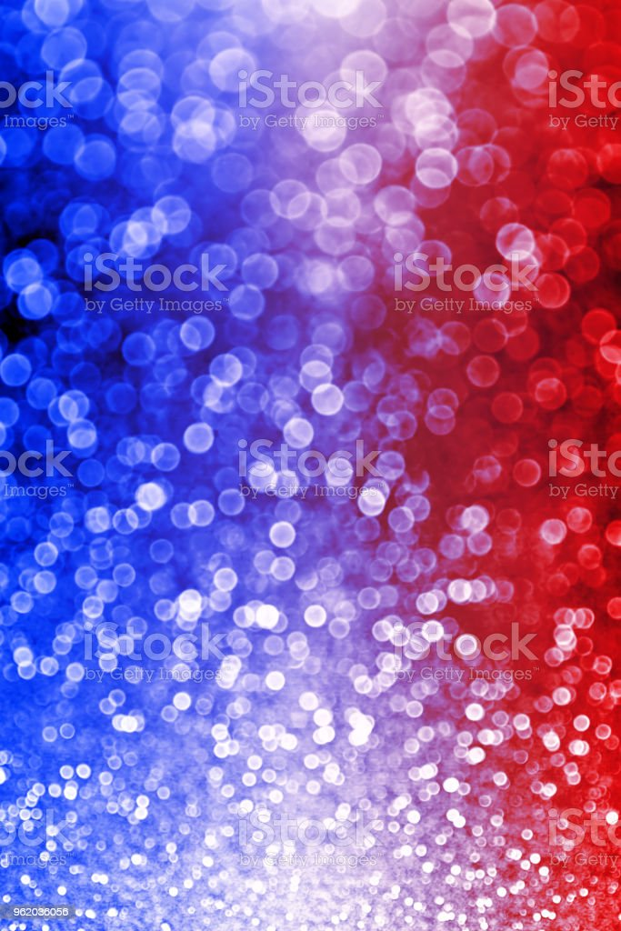 Patriotic Red White and Blue Lights Background stock photo