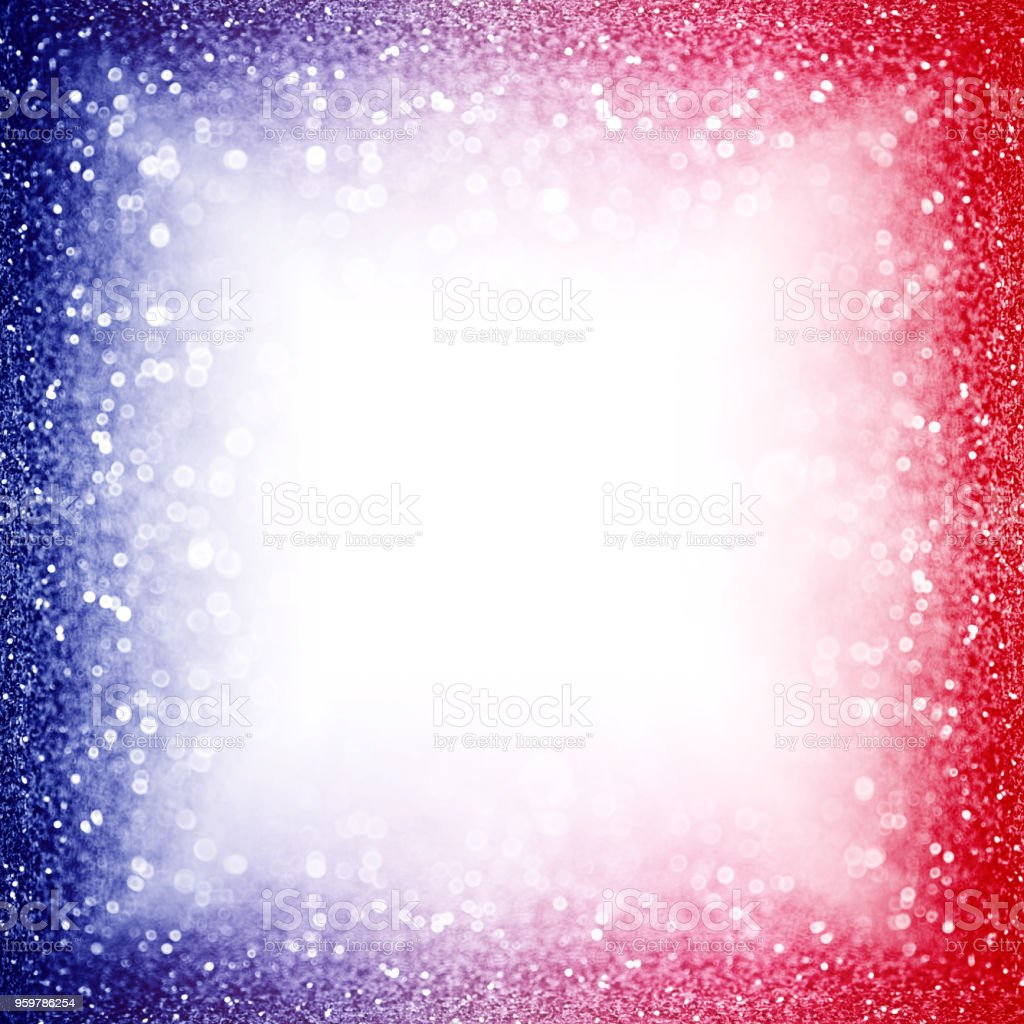 Patriotic Red White And Blue Party Invite Border Background Sparkle ...