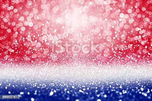 680789648 istock photo Patriotic Red White and Blue Sale Background 689537612