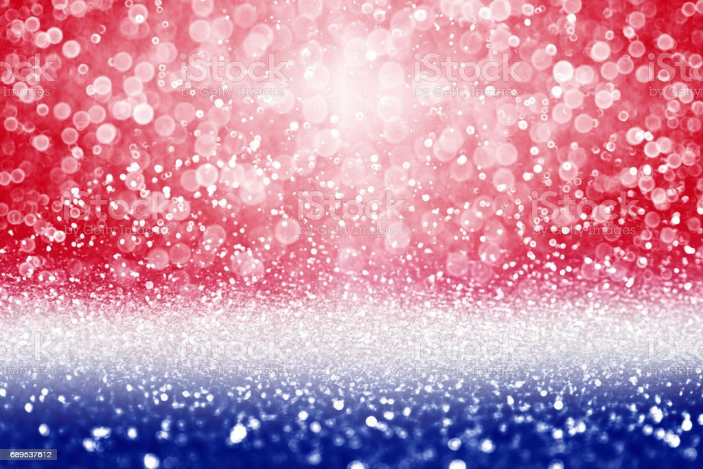 Patriotic Red White and Blue Sale Background stock photo