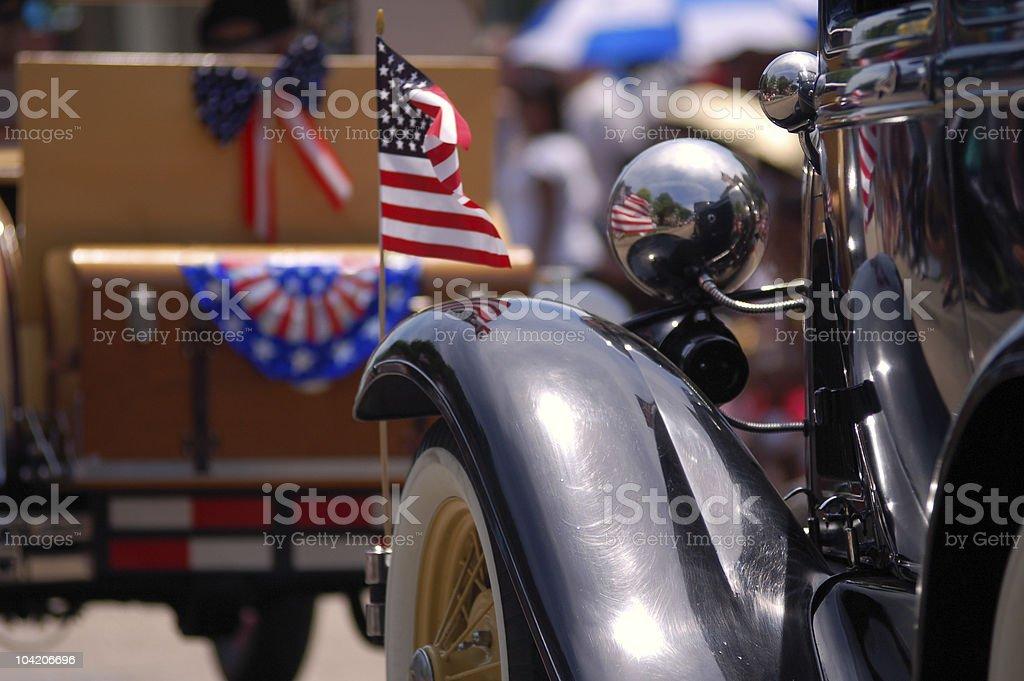 Patriotic reflections stock photo