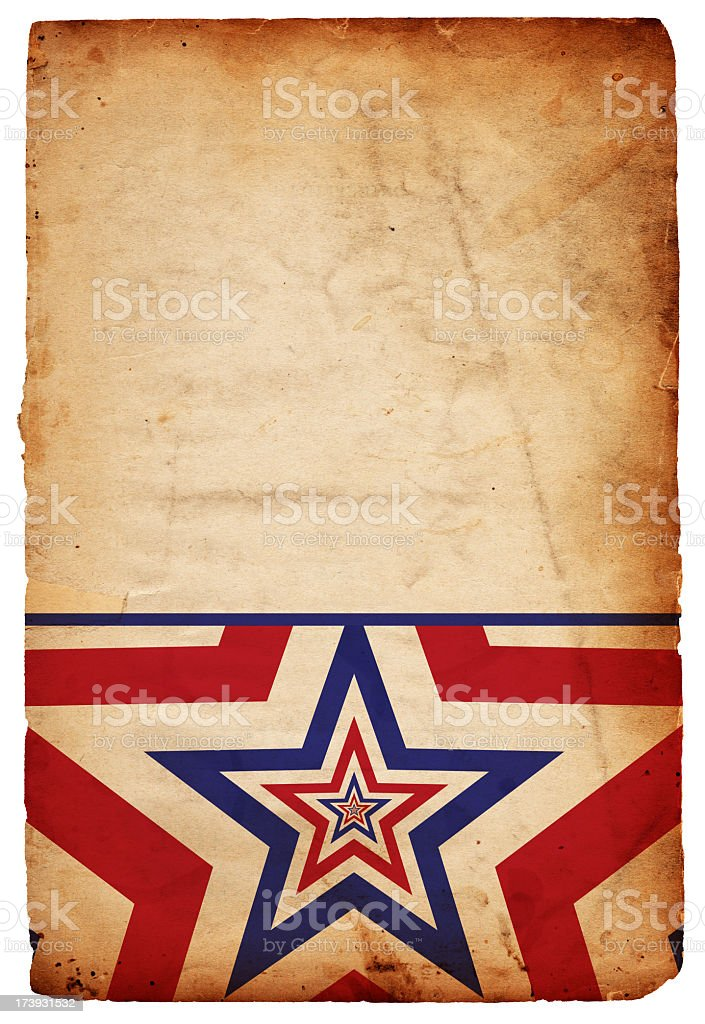 Patriotic Repeating Star Paper XXXL stock photo