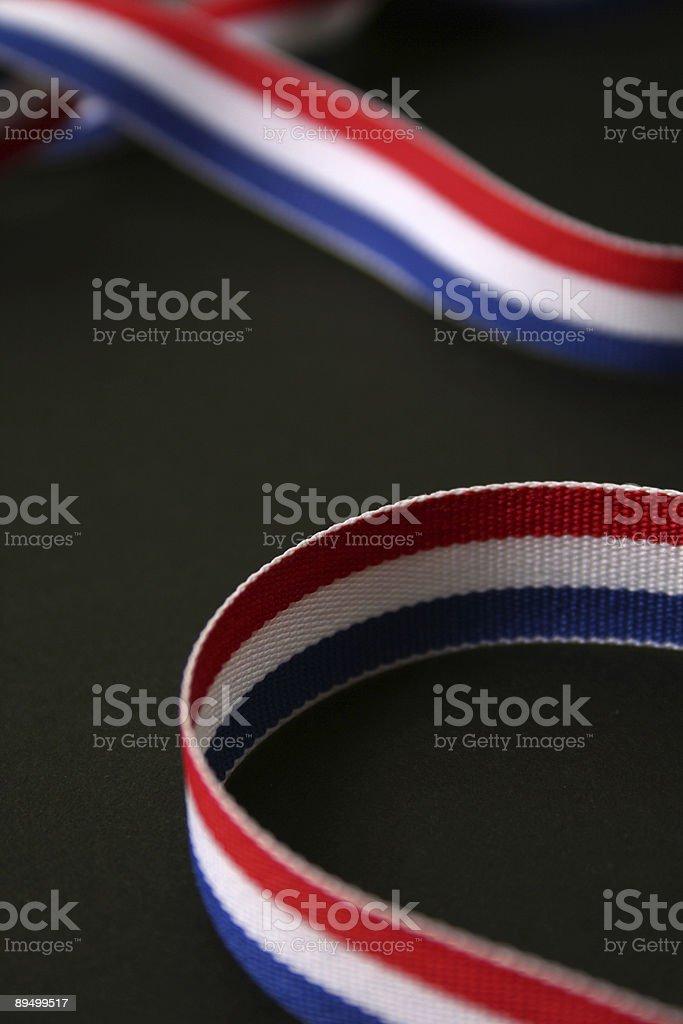 Patriotic Ribbon royalty free stockfoto