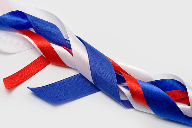 Patriotic ribbons stock photo