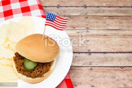 istock Patriotic Sloppy Joe 172443214