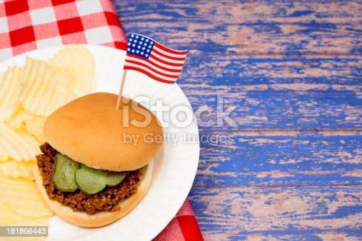 istock Patriotic Sloppy Joe 181866443