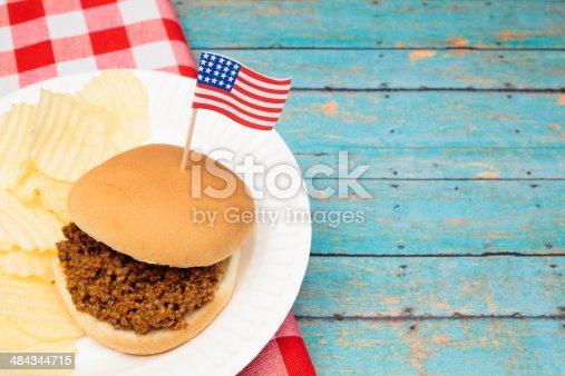 531564432 istock photo Patriotic Sloppy Joe 484344715