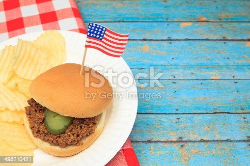istock Patriotic Sloppy Joe 498210421