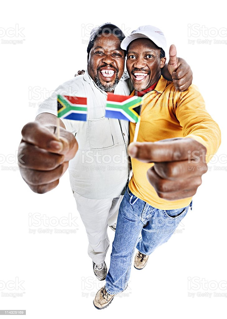 Patriotic South Africans royalty-free stock photo