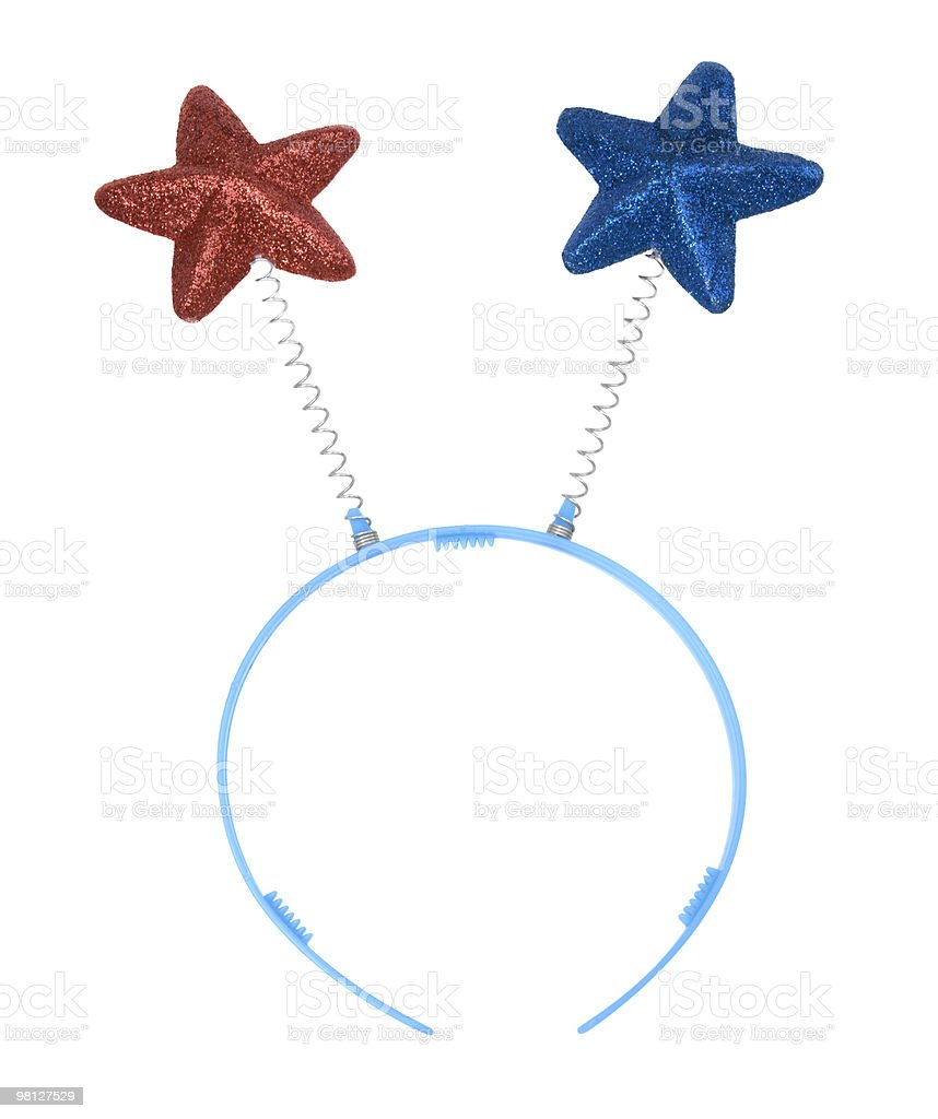 Patriotic Star Head Boppers royalty-free stock photo