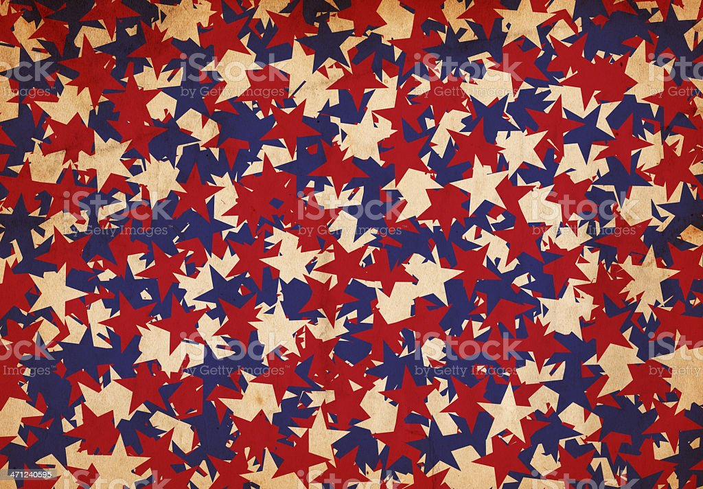 Patriotic Star Paper - XXXL stock photo