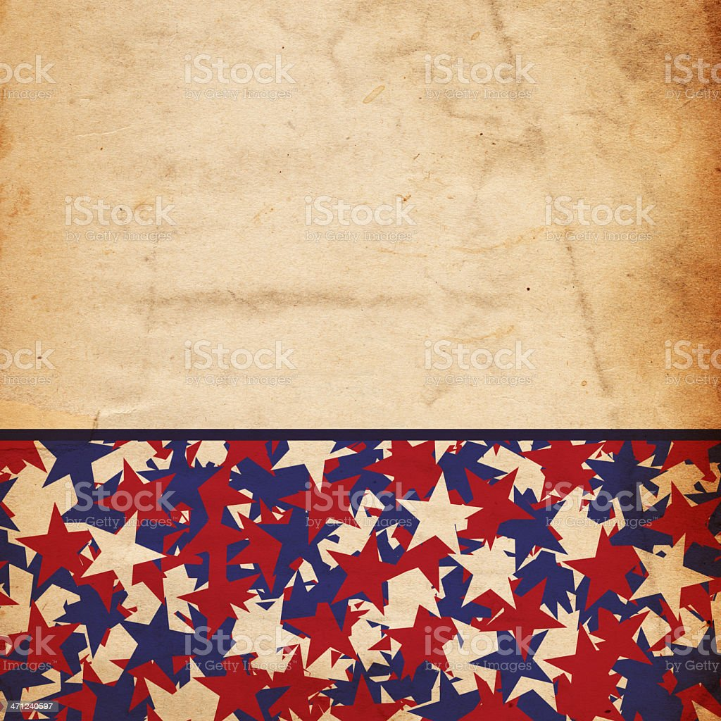 Patriotic Star Paper - XXXL royalty-free stock photo