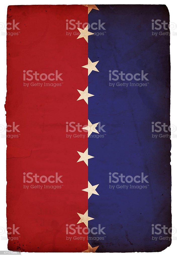 Patriotic Star Paper - XXXL royalty-free stock photo