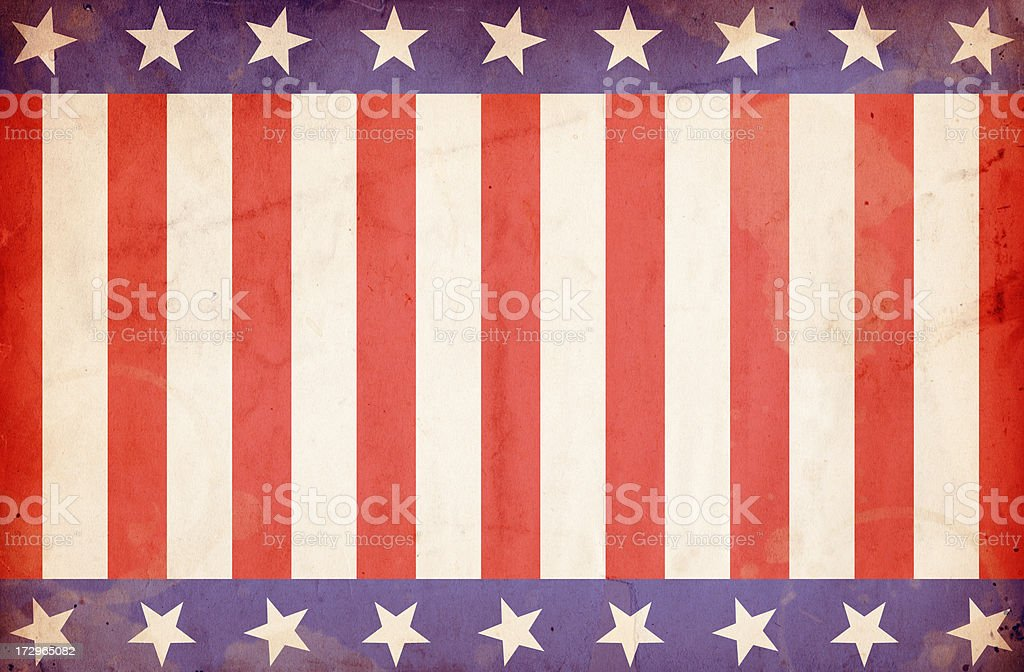 Patriotic Stars and Stripes Background: XXXL Grunge Paper royalty-free stock photo