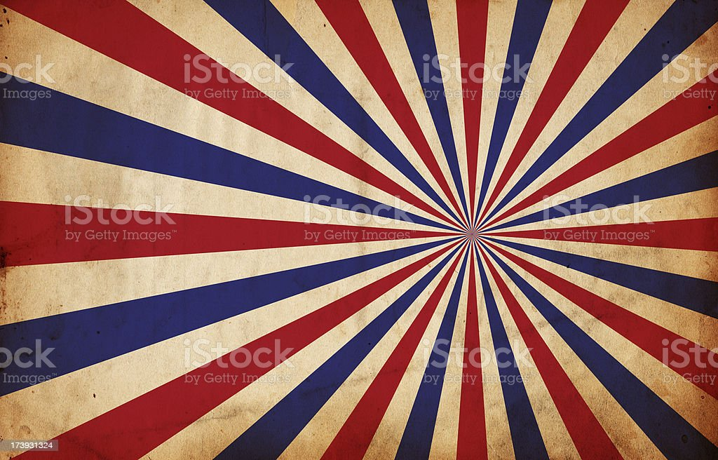 Patriotic Sunburst royalty-free stock photo