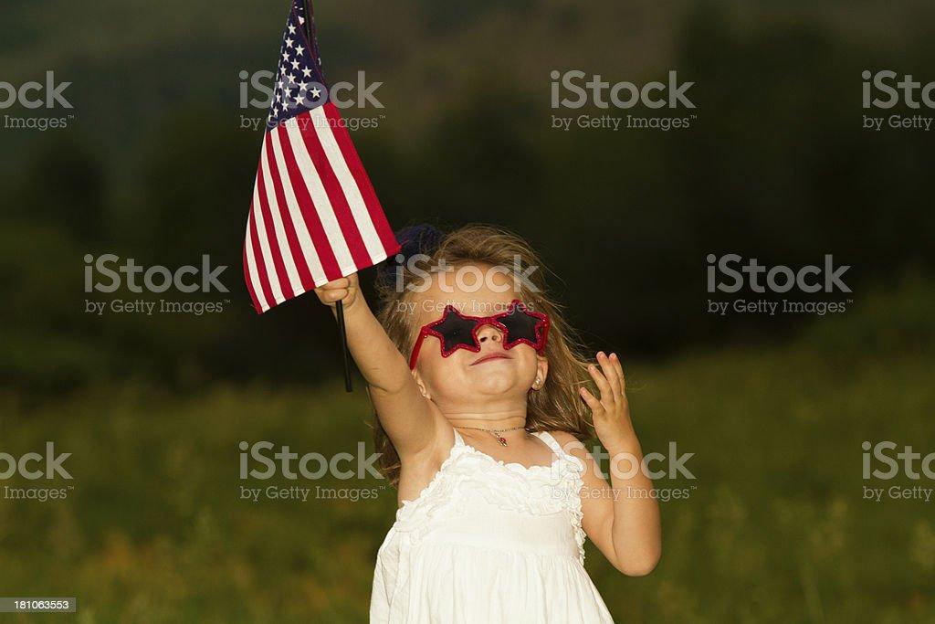Patriotic Toddler stock photo