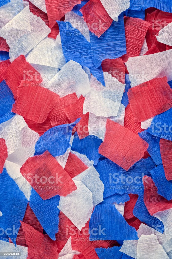 Patriotic Torn Crepe Paper Background Stock Photo More Pictures Of