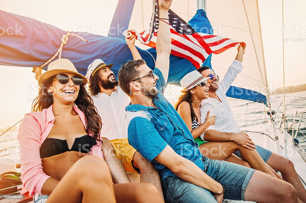 Patriotic trip stock photo
