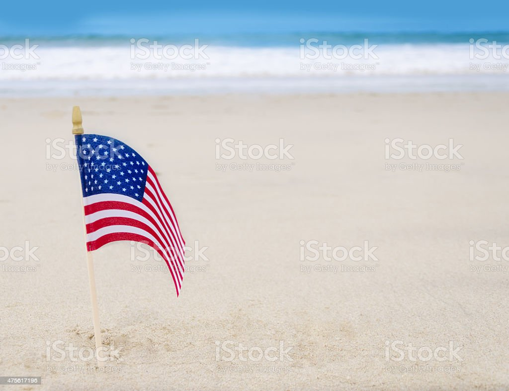 Patriotic USA background with American flag stock photo