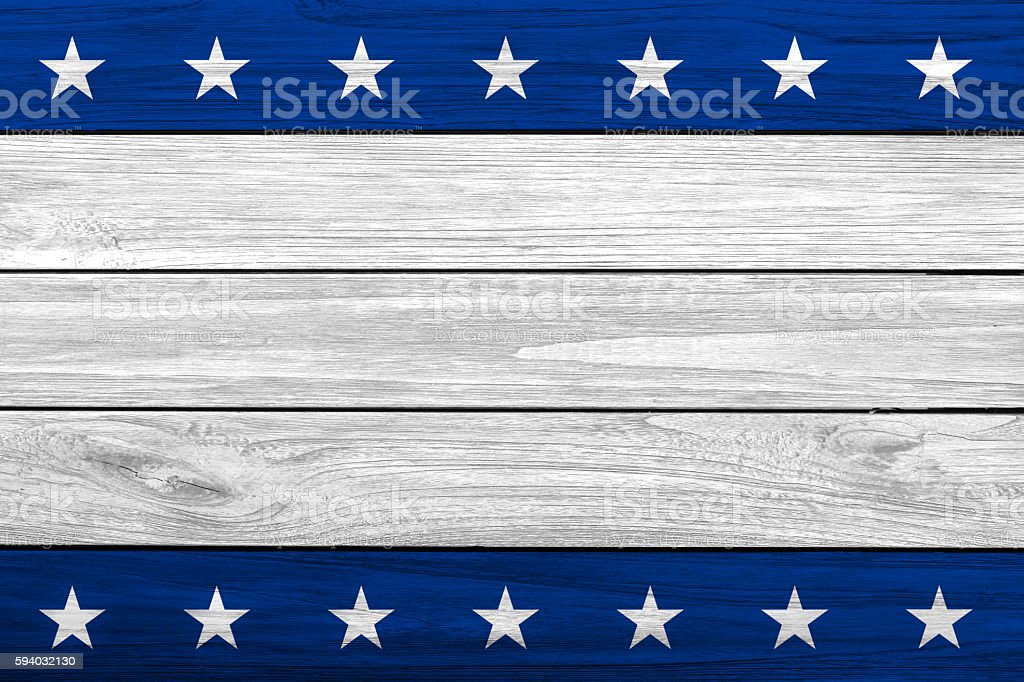 Patriotic USA wooden background stock photo