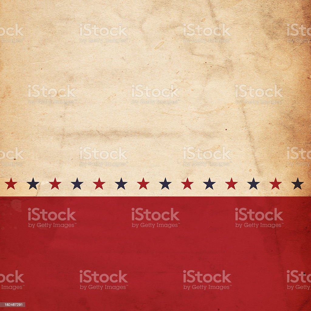 A patriotic, vintage design with stars stock photo
