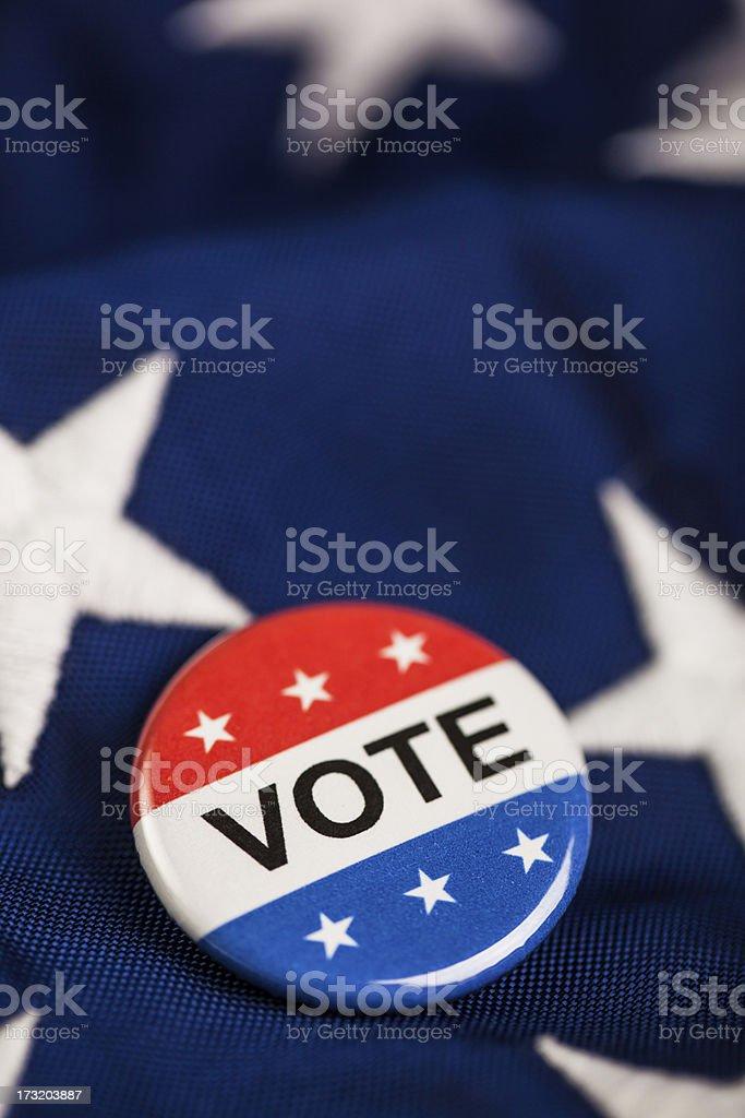 patriotic Vote pin royalty-free stock photo
