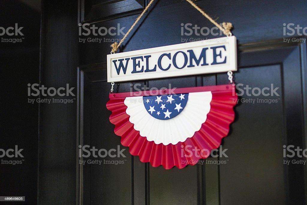Patriotic Welcome stock photo
