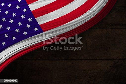 953130996 istock photo USA patriotic Wood Background 1251699960