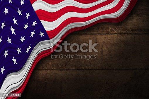 953130996 istock photo USA patriotic Wood Background 1251699992