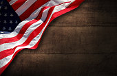 USA patriotic Wood Background