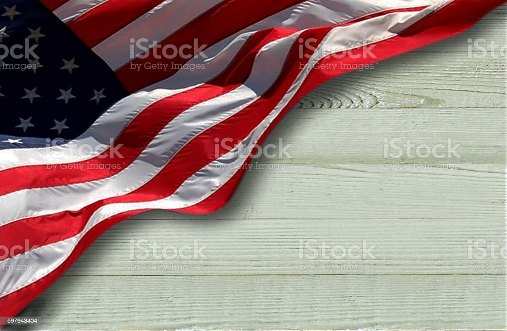 USA patriotic Wood Background stock photo